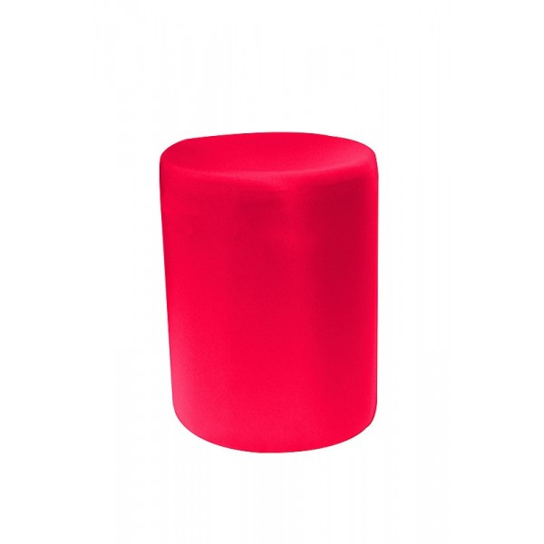 Pouf rond rouge