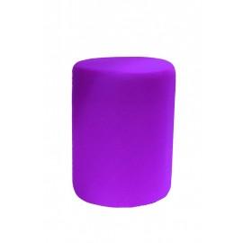 Pouf rond violet