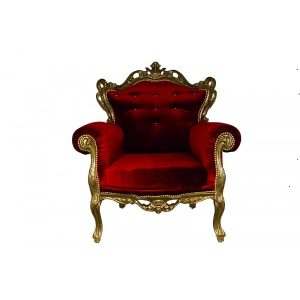 Fauteuil Baroque fauteuil baroque rouge