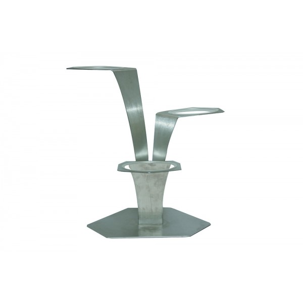 Support inox 3 branches H 52 cm