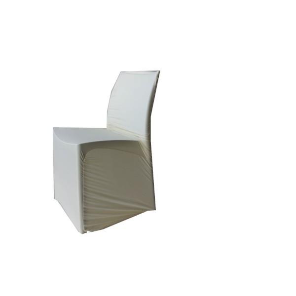 Housse de chaise Lycra crème