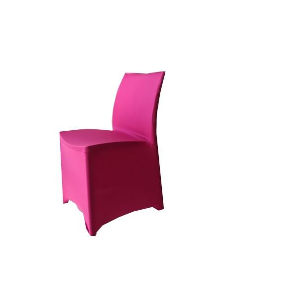Housse de chaise Lycra fuchsia