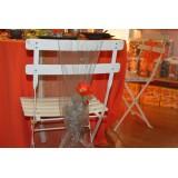 Chaise Colombine pliante blanche