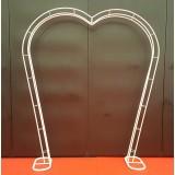 Arche en forme de coeur.