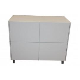 Comptoir d'accueil blanc L111/H107/P53 cm