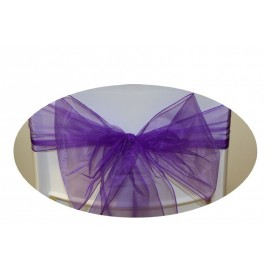 Noeud violet pour housse de chaise