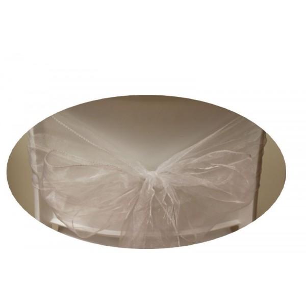 Noeud blanc pour housse de chaise
