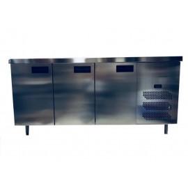 Table réfrigérée 3 portes inox 230V/280WL176 X H85X P70 cm
