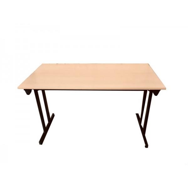 Table de réunion pliante plateau hêtre