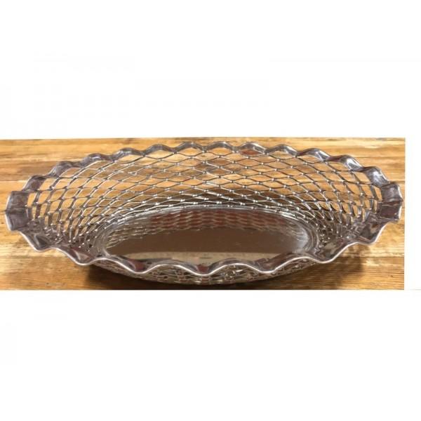Corbeille à pain inox 28 x 22 cm