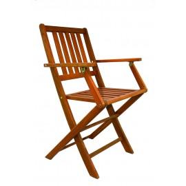 Chaise en teck pliante