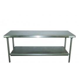 Table inox L 200 P 60 H 84 cm
