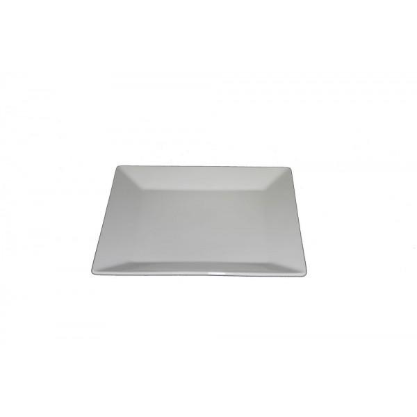 Assiette carrée Nubo 21 x 21 cm