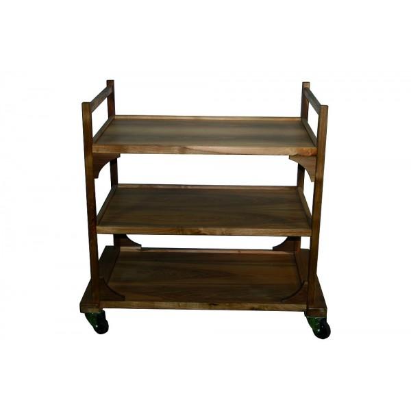 Table roulante de service en bois 3