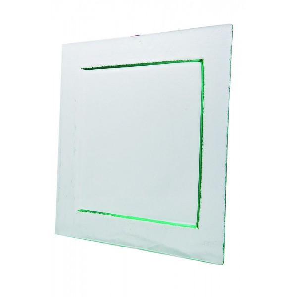 Assiette carrée Glass'line 31 x 31