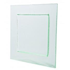 Assiette carrée Glass'line 28 X 28