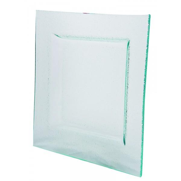 Assiette carrée Glass'line 25 X 25