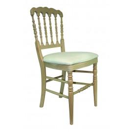 Chaise Napoléon III cérusée blanc a