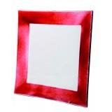 Assiette carrée Mix'up framboise 26