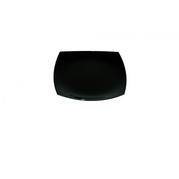 Assiette plate Délice Noir 19 cm
