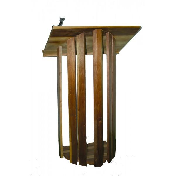 Pupitre orateur bois L 55 P 50 H 12