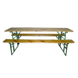 Kit brasserie 60 cm (table + 2 banc