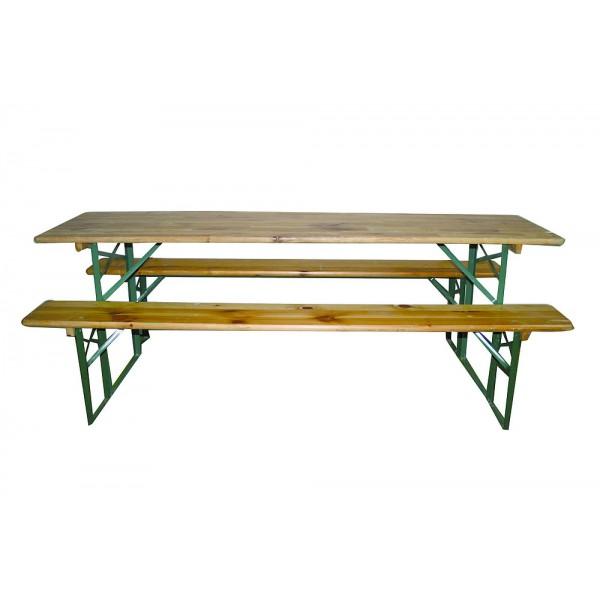 Kit brasserie 60 cm (table + 2 banc