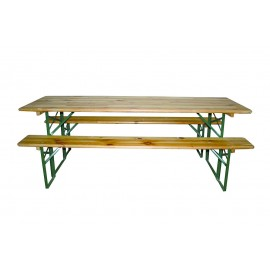 Kit brasserie 70 cm (table + 2 banc