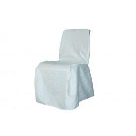 Housse de chaise carrée blanche