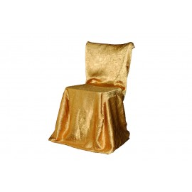 Housse de chaise carree or