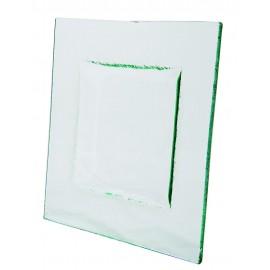 Assiette  carrée Glass'line 21 x 21