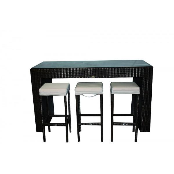 Ensemble table haute avec 6 chaises