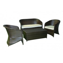 Ensemble salon jardin rotin chocola