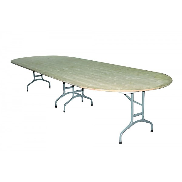 Table ovale 140 x 380 / 18 personne