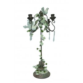 Chandelier fer forgé 4 branches H 74 cm