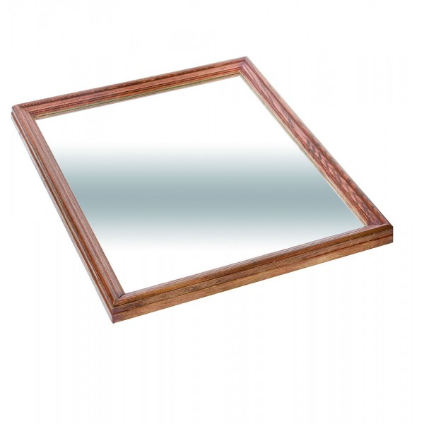 Plateau miroir en bois 650 x 760 cm