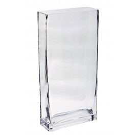 Vase rectangulaire 6 x 15 H 30 cm