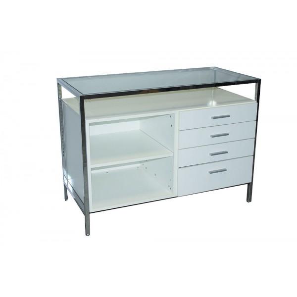 Table comptoir 4 tiroirs/ 1 tablette