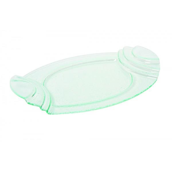 Plat ovale en verre 46 X 32 cm