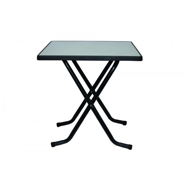 Table terrasse pliante carr e 70 x 70 cm prestaloc - Table de terrasse restaurant ...