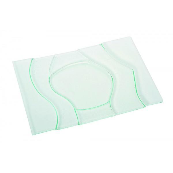 Plat rectangle en verre 35 x 50 cm