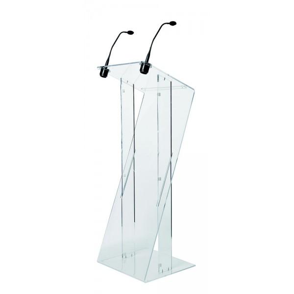 Options 2 micros pour pupitre orateur plexi