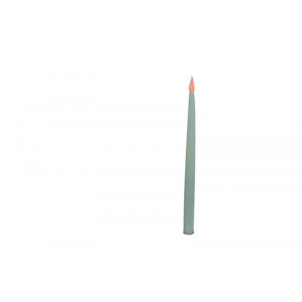 Bougie electrique blanche avec piles (2x)