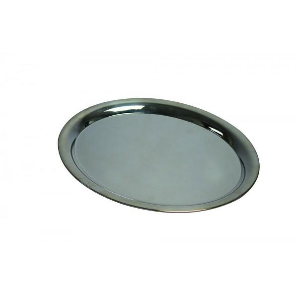 Plateau ovale argenté 29 x 22.5 cm