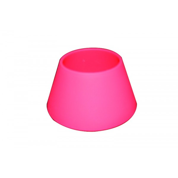 Support bougie silicone rouge