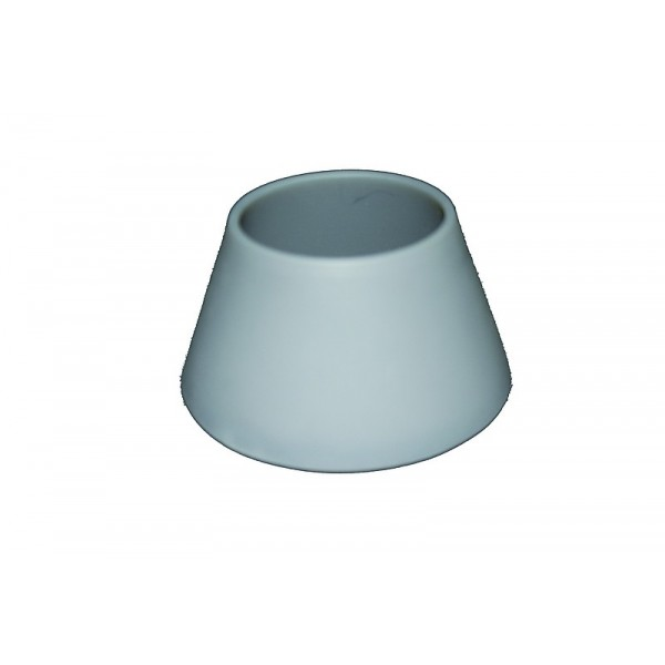 Support bougie silicone gris